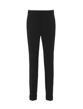 High Rise Skinny Stretch Wool Pants by Stella Mc Cartney