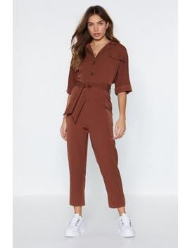 Get Button Down Jumpsuit by Nasty Gal