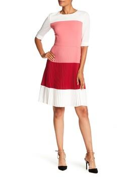 Disena Colorblock Pleat Dress by Boss