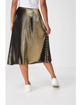 Woven Daria Pleated Midi Skirt by Cotton On