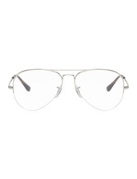 Silver Aviator Glasses by Ray Ban