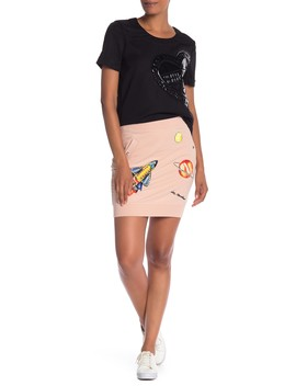 Space Patchwork Skirt by Love Moschino