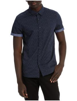 Lee Printed Short Sleeve Slim Shirt by Blaq