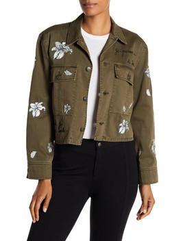 Cosette Rhinestone Embroidered Jacket by Cinq A Sept