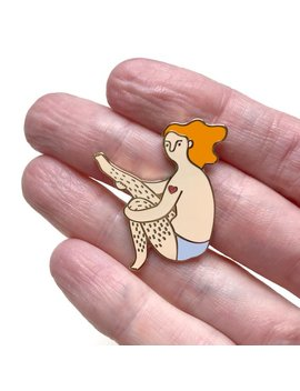 I Love My Legs! Pin • Ginger Girl • Hard Enamel Pin • You're Welcome Club by Etsy