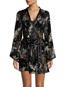 Printed Wrap Robe by Flora Nikrooz