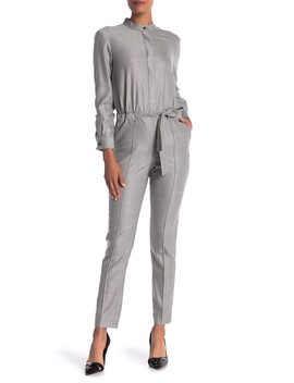 Stretch Wool Blend Birdseye Jumpsuit by St. John Collection