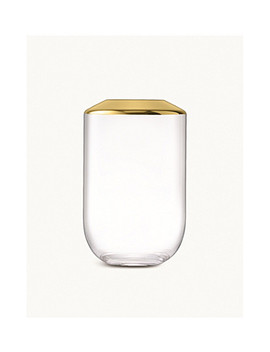 Space Glass And Metal Vase 25cm by Lsa