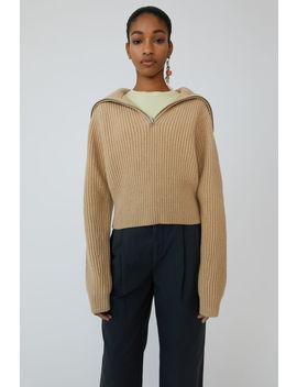 Ribbed Sweater Camel Melange by Acne Studios