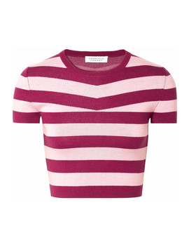 Cropped Striped Wool And Cashmere Blend Top by Gabriela Hearst
