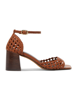 Procida Woven Leather Sandals by Souliers Martinez