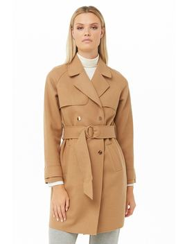 Brushed Double Breasted Coat by Forever 21