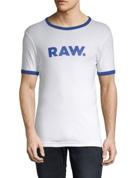 Graphic Cotton Tee by G Star Raw