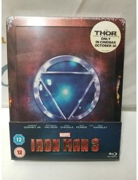 Iron Man 3 Zavvi Uk Exclusive Blu Ray Steelbook Sold Out Oop Brand New Sealed by Ebay Seller