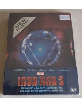 New Iron Man 3 3 D + 2 D Blu Ray Steelbook™ Singapore + Bonus Disc by Ebay Seller