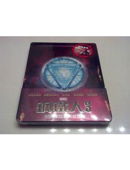 Marvel's Iron Man 3 3 D Steelbook Embossed 1/4 Slip (Blu Ray, Taiwan) Oop Rare by Ebay Seller
