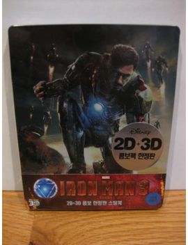 Iron Man 3 Bluray 3 D Steelbook Marvel Korea Exclusive by Ebay Seller