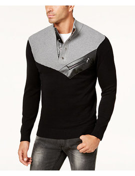 I.N.C. Men's Mock Neck Sweater, Created For Macy's by Inc International Concepts