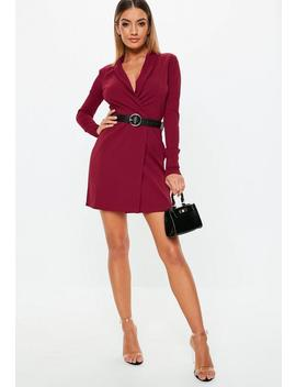 Tall Burgundy Blazer Dress by Missguided