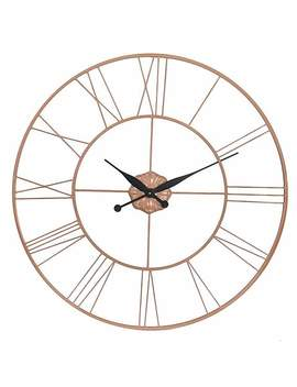 Copper Galvanised Oversized Wall Clock by Dunelm