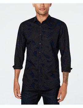 I.N.C. Men's Velvet Paisley Shirt, Created For Macy's by Inc International Concepts