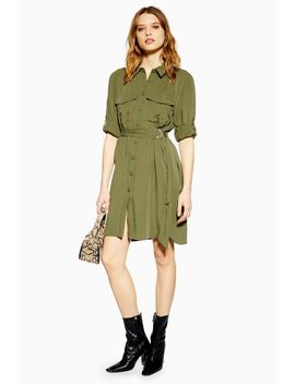 Tall Utility Mini Shirt Dress by Topshop