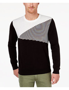 I.N.C. Men's Colorblocked Ottoman Stripe Sweater, Created For Macy's by Inc International Concepts