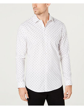 I.N.C. Men's Slim Fit Mini Skull Shirt, Created For Macy's by Inc International Concepts