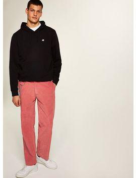 Pink Wide Leg Corduroy Trousers by Topman