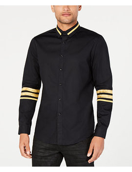 I.N.C. Men's Regal Striped Trim Shirt, Created For Macy's by Inc International Concepts