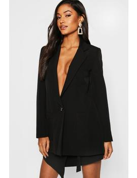 Oversized Pocket Front Blazer by Boohoo
