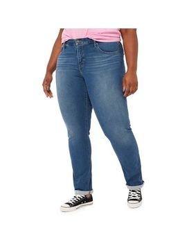 Levi's   Blue Mid Wash '314' Plus Size Shaping Straight Jeans by Levi's