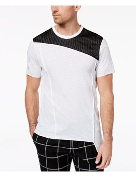 I.N.C. Men's Colorblocked Mesh T Shirt, Created For Macy's by Inc International Concepts