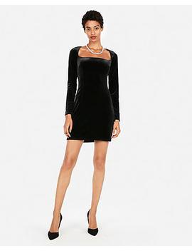 Edition Velvet Open Neck Sheath Dress by Express