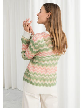 Zig Zag Wool Blend Sweater by & Other Stories