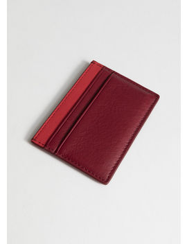 Minimal Leather Cardholder by & Other Stories