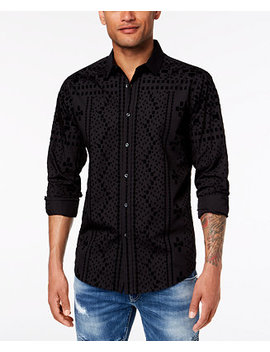 I.N.C. Men's Flocked Shirt, Created For Macy's by Inc International Concepts