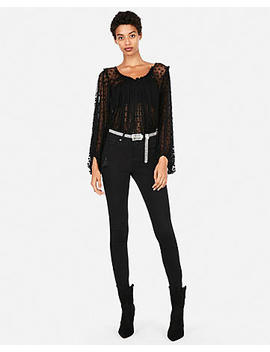 Edition Dotted Scoop Neck Blouse by Express