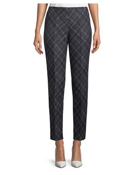 Flat Front Wool Crosshatch Pants by Michael Kors Collection