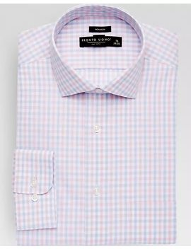 Pronto Uomo Pink Check Dress Shirt by Mens Wearhouse