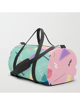 Dreaming 80s Pattern #Society6 #Decor #Buyart Duffle Bag by