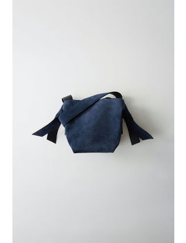 Small Leather Bag Navy Blue by Acne Studios