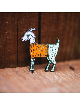 Enamel Pin Seconds Sale, Cute Goat Pin by Etsy