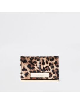 Brown Leopard Print Travel Card Holder by River Island