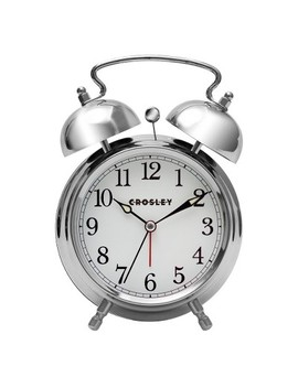 Analog Alarm Clock Silver   Crosley® by Shop Collections