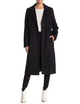 Long Wool Blend Coat by Cole Haan