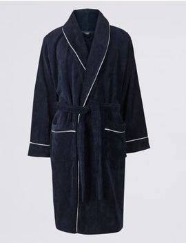 Pure Cotton Dressing Gown by Marks & Spencer