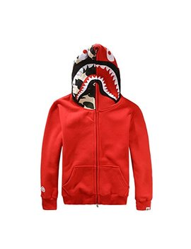 Griffith Nancy New Bathing Ape Bape Jacket Men Shark Head Full Zip Hoodie Sweater Jacket by Griffith Nancy