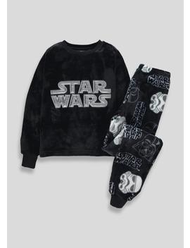 Kids Star Wars Fleece Pyjama Set (4 11yrs) by Matalan