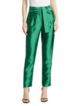 Pack Cropped Straight Leg Pants by Maje